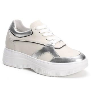 Chamaripa scarpe rialzate donna scarpe suola alta donna scarpe con zeppa alta 9 CM