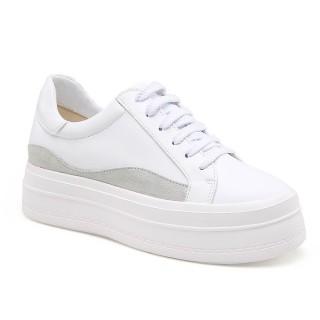 Chamaripa scarpe rialzate donna sneakers tacco interno chunky sneakers 8 CM
