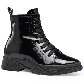 Chamaripa stivaletti uomo tacco alto scarpe rialzate ragazza scarpe donna tacco interno nero 7 CM