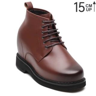 Chamaripa scarpe con rialzo interno - scarpe rialzate per uomo marrone - scarpe con rialzo 15 CM