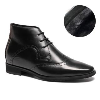 stivali tacco interno solette scarpe per altezza scarpe rialzo uom 7CM