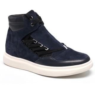 Men High Heel Shoes  Elevator Sneakers Taller Men Shoes