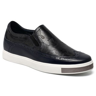 scarpe tacco interno uomo Breathable Pedal Canvas Shoes Taller Shoes