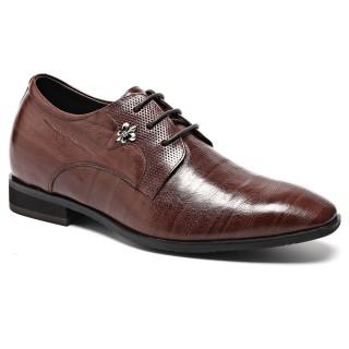 Height Adding Shoes Stripe Stylish Dress Elevator Shoes