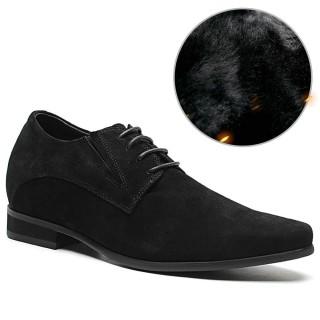 Chamaripa scarpe rialzate scarpe con rialzo nere eleganti scarpa scamosciata uomo 8 CM