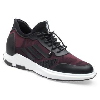 Chamaripa scarpe uomo con rialzo - scarpe da ginnastica con rialzo interno - scarpe rialzo sportive 7 CM Più' Alti