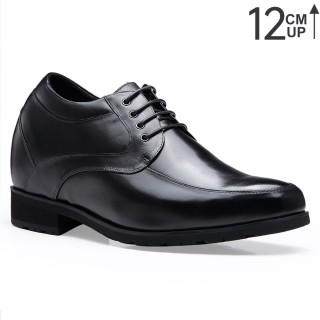 Chamaripa scarpe uomo con rialzo 12 CM - nero scarpe per aumentare la statura - scarpe con rialzo uomo