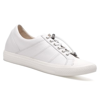 Chamaripa scarpe uomo rialzate scarpe uomo con rialzo interno Scarpe casual alte piattaforma bianche 6 CM