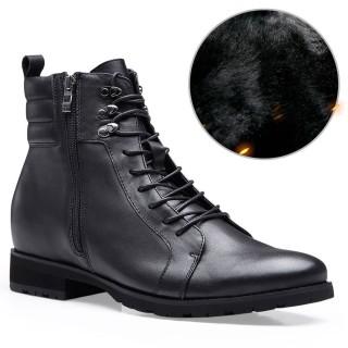 Chamaripa scarpe da uomo con rialzo interno stivali con rialzo interno moto stivali rialzati per veri biker 7 CM
