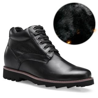 Chamaripa scarpe con rialzo interno stivaletti con tacco interno stivali con tacco interno nero 9 CM