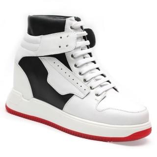 Chamaripa scarpe con rialzo interno sneakers alte con tacco interno scarpe basket 10 CM / 3.94 Inches