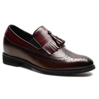 Chamaripa scarpe rialzate uomo mocassino scarpe con rialzo eleganti aumentare l'altezza 7 CM