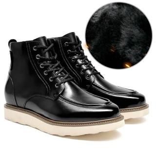 Chamaripa scarpe con rialzo interno stivali con tacco interno stivali con tacco interno nero 9 CM