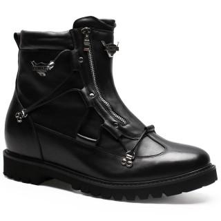 Chamaripa stivali con rialzo scarpe rialzate nero rialzo scarpe uomo stivaletti con tacco interno 9 CM
