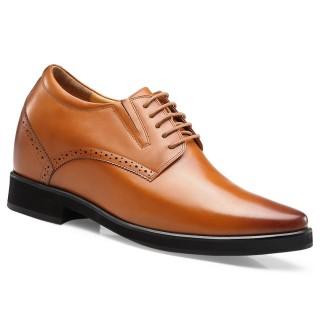 Chamaripa scarpe con rialzo interno scarpe uomo tacco alto rialzo scarpe uomo marrone 10 CM
