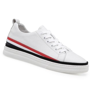 Chamaripa scarpe con rialzo interno scarpe da ginnastica con tacco interno bianche 5.5 CM