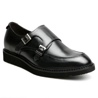 6 cm scarpe con tacco interno uomo scarpe eleganti nere uomo scarpe rialzo pelle scarpe uomo doppia fibbia