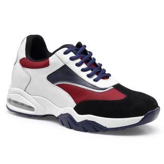 Chamaripa scarpe con rialzo uomo sneakers rialzate scarpe uomo con tacco alto 7 CM