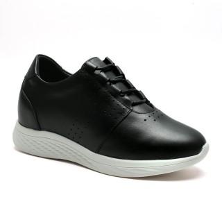 Chamaripa scarpe rialzate donna scarpe con rialzo sneakers rialzate nero 7 CM
