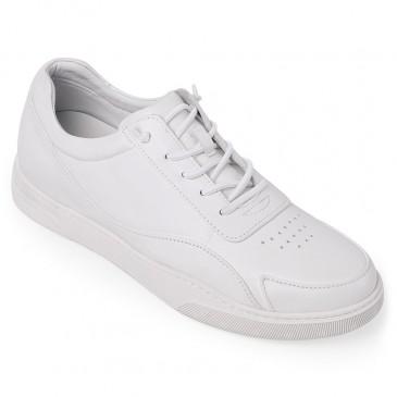 Chamaripa scarpe con rialzo interno uomo bianco sneakers tacco interno bianco sneakers rialzate 5 CM