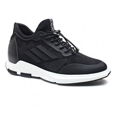 Chamaripa scarpe con rialzo scarpe rialzate uomo scarpe rialzo interno sneakers con tacco interno uomo nero 7 CM