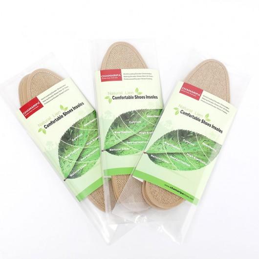 Calçado Elevador Palmilhas Natural Linho Confortável Altura Aumentando a palmilha