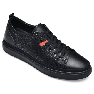 Black Height Incrasing Elevator Shoes Occident Dress Shoes