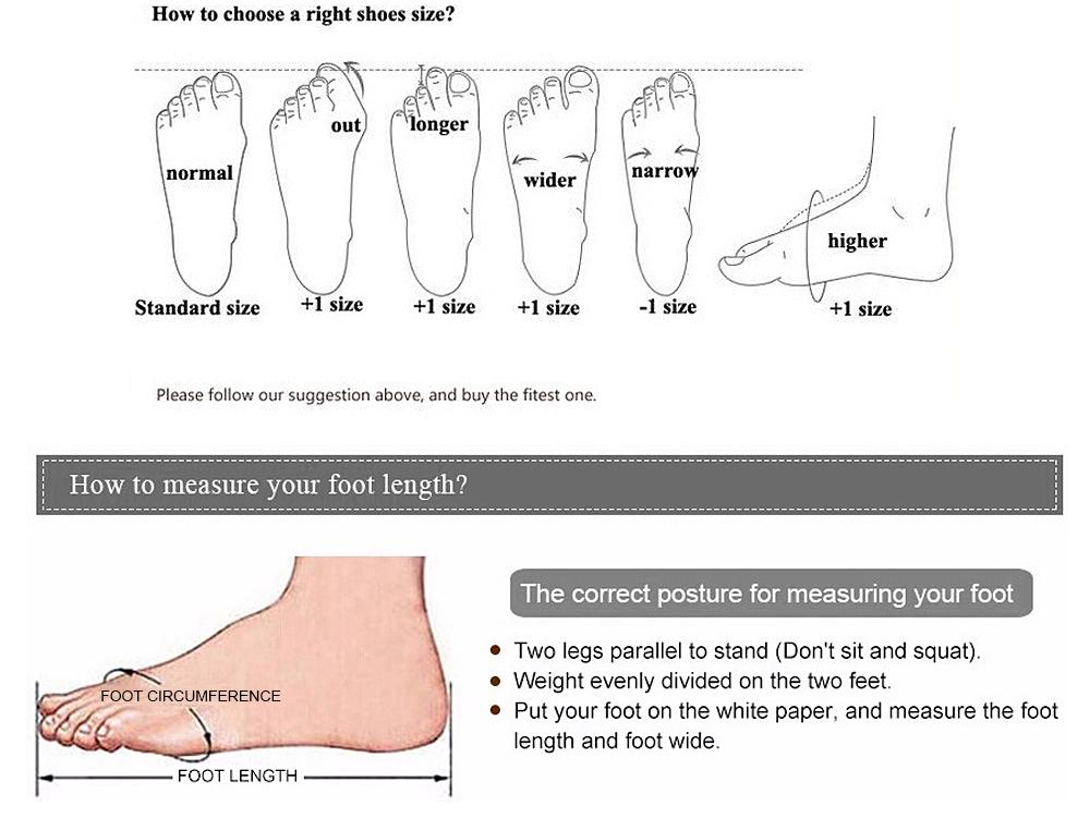 การแปลงขนาดรองเท้าผู้ชาย