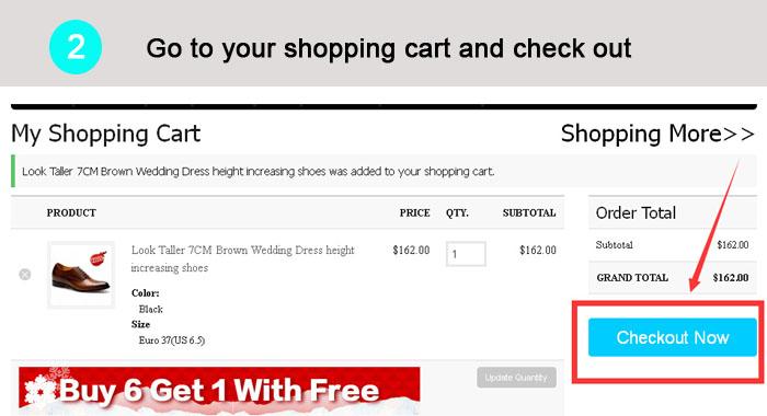 Gehen Sie zu Ihrem Warenkorb und Check-Out direkt